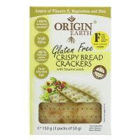 Origin Earth Crispy Bread Crackers with Sesame Seeds 150g